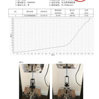 ZTY-B-70吊式弹簧减震器外壳强度测试报告